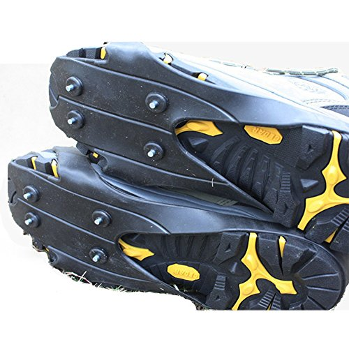 Portable Outdoor Ice & Snow Grips Ice Spikers Rubber Anti Slip Crampons Shoe Cover HWYP019
