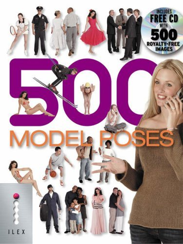 500 Model Poses: The Ultimate Library of Professional-quality Photo Poses All on White Backgrounds with Clipping Marks by Calvey Taylor-Haw (2005-05-16)