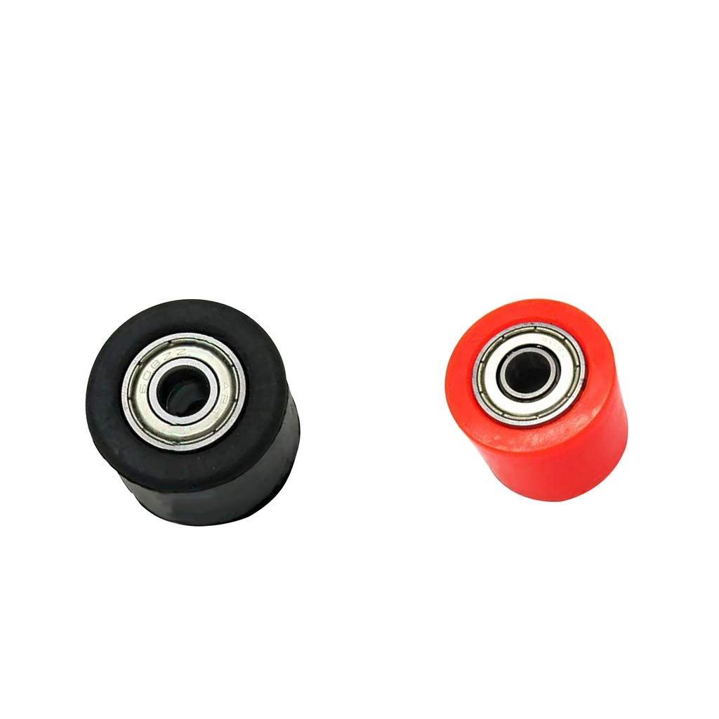 perfk Red &Black Chain Roller Tensioner Pulley Wheel Guide For CRF YZF KTM RMZ KLX
