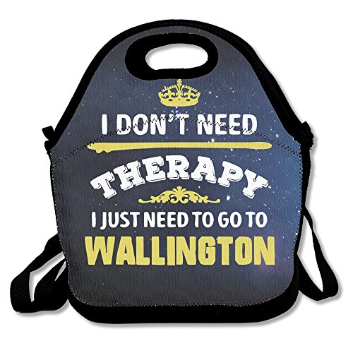 Black Don't Need Therapy Need To Go To Wallington City Lunch Bag For Man And Woman