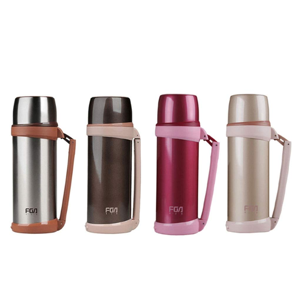 8haowenju Kettle, Insulated Pot,Thermos Cup,Portable Stainless Steel Thermos of Great Capacity, Household, Car Thermos,Beige, Brown, Pink, Silver, 1000ml, 1500ml, 1800ml, Good Insulation Effect,