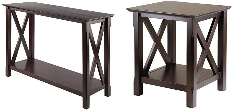 Winsome Wood Xola Occasional Table, Cappuccino & Xola Occasional Table, Cappuccino