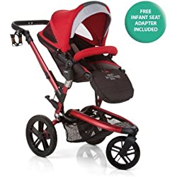Jané Trider Extreme All-Terrain Stroller - Deep Red