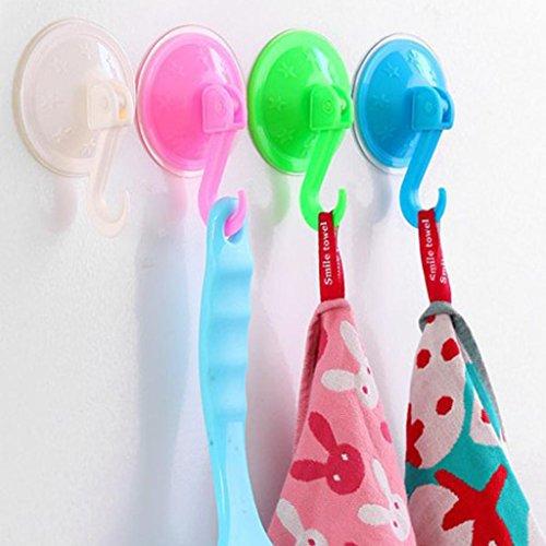 chic Iuhan 5PCS Oversized Powerful Vacuum Suction Hooks Free Seamless Nail Hook Creative (Random Color Style)