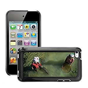 Etui Housse Coque de Protection Cover Rigide pour // M00151447 Pesca Mujeres Nepal red fluvial // Apple ipod Touch 4 4G 4th