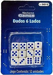 Dados 6 Lados 12 Peças, Western, Multicor, Pacote de 1