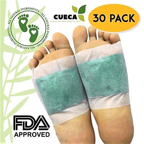 Foot Pads: (30 pcs)- Remove Impurities, Deep Sleep, Reduce Metatarsal Pains, Compliments Reflexology Foot Massage, New Formula 2018