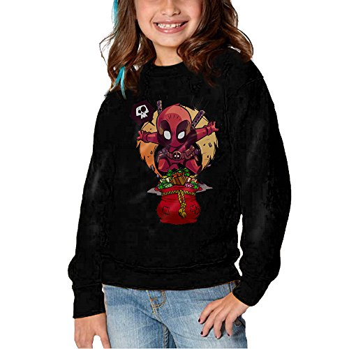 [Melon Christmas House And Deadpool Long Sleeve Round Neck Cute Sweatshirts Shirt For Toddler Kids] (Soccer Player Halloween Costume Boys)