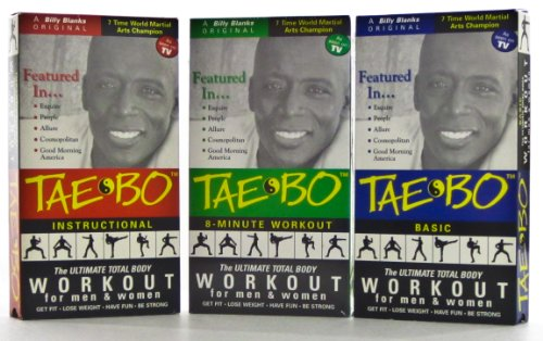 Tae-Bo: Basic, Instructional and famous EIGHT Minute Workout TAPES [All 3] (Tae-Bo: The Ultimate Total Body Workout for Men & Women) [VHS] by Billy Banks