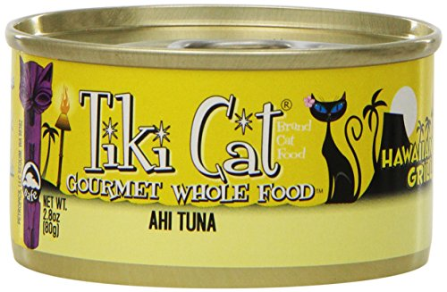 TIKI Cat Canned Food for Cats,  Hawaii Grill Ahi Recipe   (Pack of 12 2.8-Ounce Cans) (Raw Canned Cat Food compare prices)