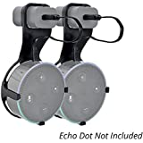 Wall Mount for Dot w/ Cord (2 pcs White) - Wall Hanger Cable Holder for Dot 2nd Generation | No Drilling Screwless Full Protection Easy Mount Home Accessories by Adika