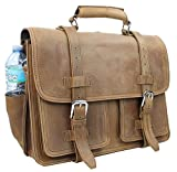 Vagabond Traveler 18″ CEO Heavy Duty Full Grain Leather Large Briefcase Backpack. Heavy 10LB L31 Review