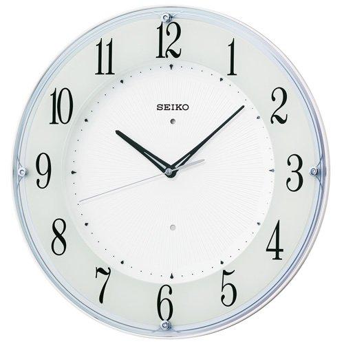 セイコー クロック 掛け時計 電波 アナログ 白 パール KX394W SEIKO B00L8XCBYQ