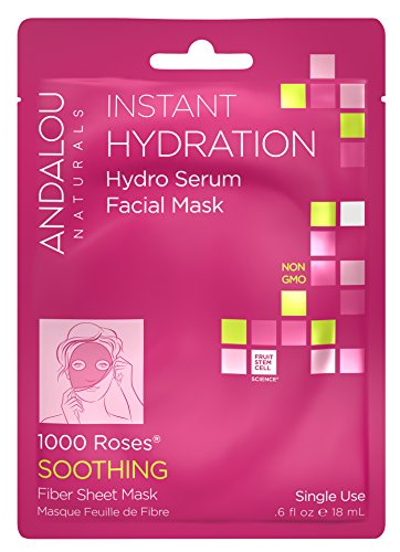 Andalou Naturals Instant Hydration Hydro Serum Facial Mask, 0.6 Fluid Ounce - Instant Moisture Mask