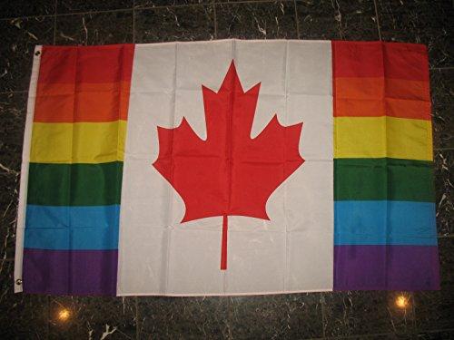 3x5 Canada Gay Rainbow Flag 3'x5' Canadian Lesbian LGBT Prid