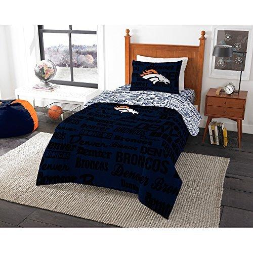 NFL Denver Broncos Bedding Set, Twin