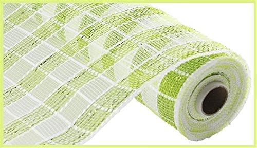 Plaid Check Deco Poly Mesh Ribbon- 10
