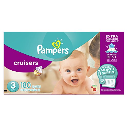 Pampers Cruisers Disposable Diapers Size 3, 180 Count Only $43.18