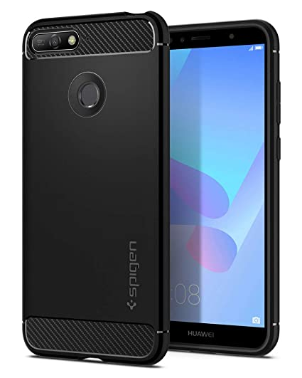 new product 3a76f 1edf8 Spigen Rugged Armor Designed for Huawei Y6 Case (2018) - Black