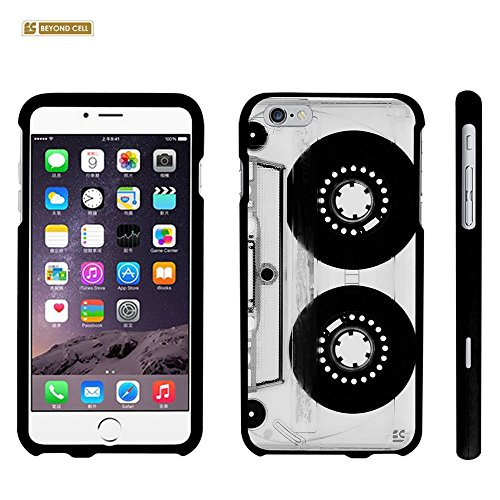 iPhone 6S Plus Case, Spots8® Hard Plastic Slim Fit [Retro Tape Deck] Case Covers Compatible with iPhone 6S Plus