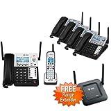 AT&T SB67138 + SB67148 + SB67128 6 Handset Corded Cordless Phone Range Extender Bundle (4 Line)