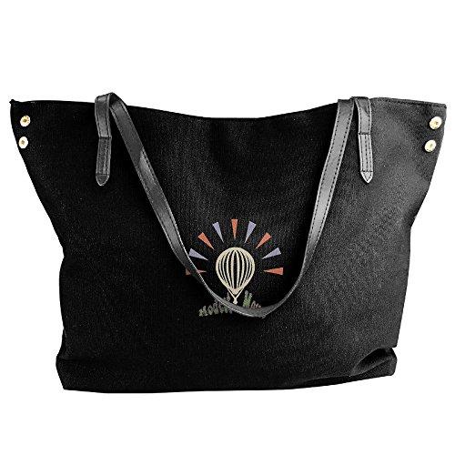 Adjustable Shoulder Sank Were Bags Mouse Before Dead Capacity Handbags Hobo Canvas Even Large Handbags Women Ship The Fashion Modest Black Black Tote Bags We w1zxE88O