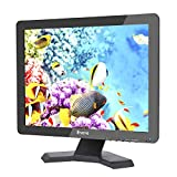 Eyoyo 15 Inch TFT LED Monitor 4:3 Ultra-Thin 1024x768 Resolution HD Video Security Surveillance Display Screen Support TV/VGA/USB/HDMI/ BNC Remote Control (15'' 1024x768 LCD)