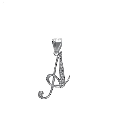4eb5a2a6aac2c Sterling Silver Initial Pendant Necklace, 16