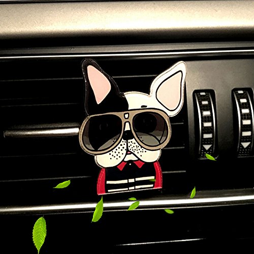 Car Air Freshener Aromatherapy Essential Oil Diffuser Locket with Car Perfume Car Fragrance Diffuser Vent Clip Cute Dog Car Interior Accessories Best Car Decoration , AMind (Cute Dog 001)
