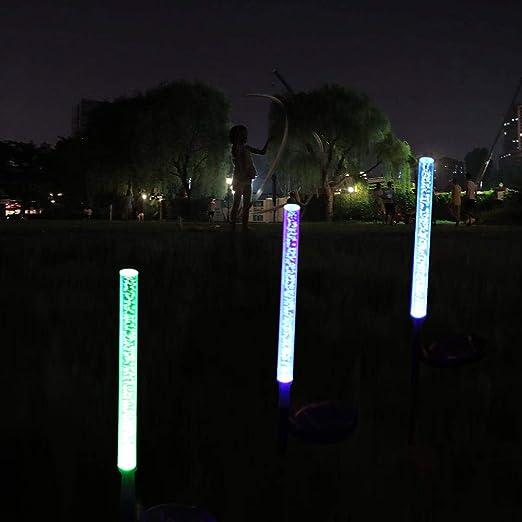 Decdeal - Iluminación LED para jardín con Forma de Tubo, RGB, Cambio de Color, para Navidad, Halloween, iluminación Decorativa para Caminos, jardín, terraza, Paisaje, Patio Trasero: Amazon.es: Jardín