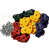 20 Large Premium Kids Rock Climbing Wall Holds with Hardware Screws for Children Outdoor Playground assorted holds and bolts