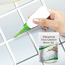 Premium Tile Grout Repair Kit cleaner DIY sealer filler remover pen set, Best Grout Reform For Tile and Grout Cleaning - Revives & Restores Stained Tile Grout Lines whitener (4.2 oz, White)
