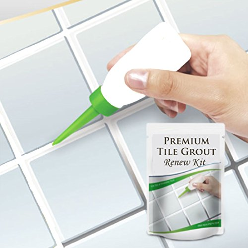Premium Tile Grout Repair Kit cleaner DIY sealer filler remover pen set, Best Grout Reform For Tile and Grout Cleaning - Revives & Restores Stained Tile Grout Lines whitener (4.2 (Leaf Tile)