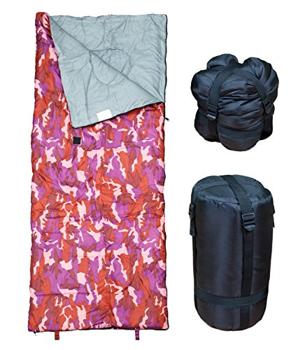 Lightweight Sleeping Bag by RevalCamp. Indoor & Outdoor use. Great for Kids, Teens & Adults. Ultra light and compact bags are perfect for hiking, backpacking, camping & travel. Color - Pink (Day Of The Dead Mask For Sale)