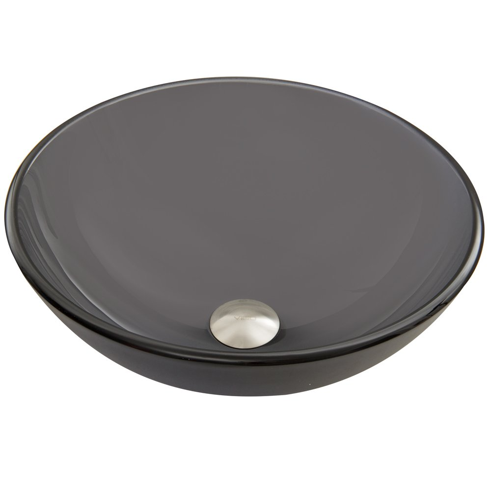VIGO Sheer Black Frost Glass Vessel Bathroom Sink
