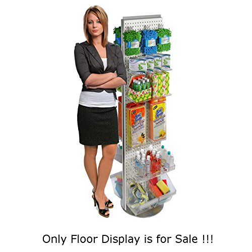 New Black Freemoving Pegboard Floor Stand 16'' W X 60'' H on Revolving Base by Pegboard (Image #5)