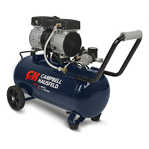 Campbell Hausfeld Quiet Air Compressor, 8 Gallon, Half the Noise, 4X Life, All the Power (DC080500)