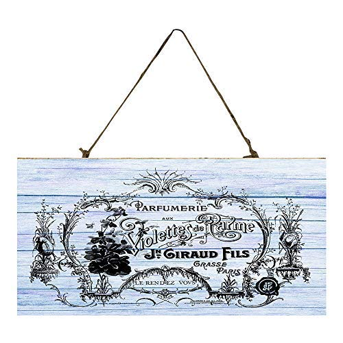 (weewen French Perfume Label Printed Door Decorative Wood Signs with Quotes Home Plaque)