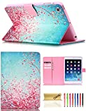 ipad mini cases cheap - iPad Mini Case, Mini 2/3 Case, Dteck Slim Fit PU Leather Flip Stand Wallet Case with Auto Sleep/Wake Function Smart Cover for Apple iPad Mini 1 2 3 (Red Plum Blossom)