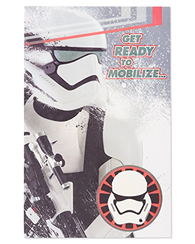 (American Greetings Star Wars Stormtrooper Birthday Card for Boy with)