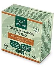 Condicionador Sólido Vegano Boni Natural com Manteiga de Cupuaçu Cupuaçu para Hidratação e Brilho, Sem Silicones, Sem Sulfatos, Sem Parabenos, Boni Natural, Verde