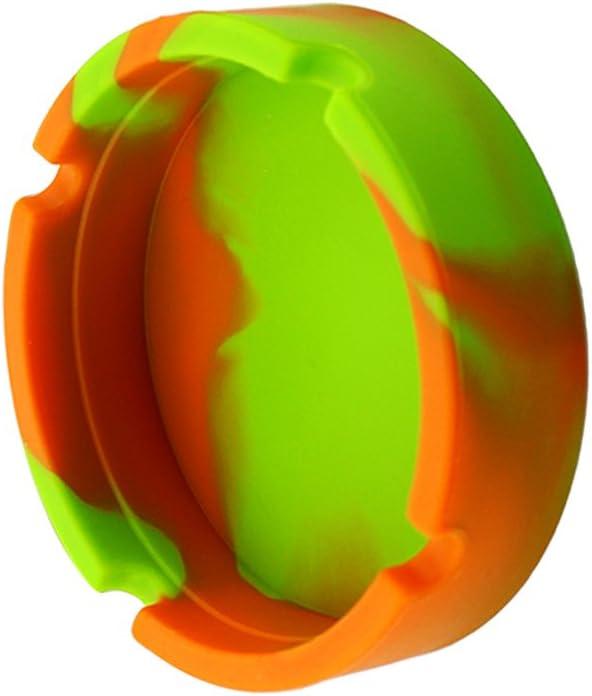 Camo Verde Come descritto Posacenere per Sigari in Silicone Rotondo Resistente per Uso di Fumare per Auto Ufficio