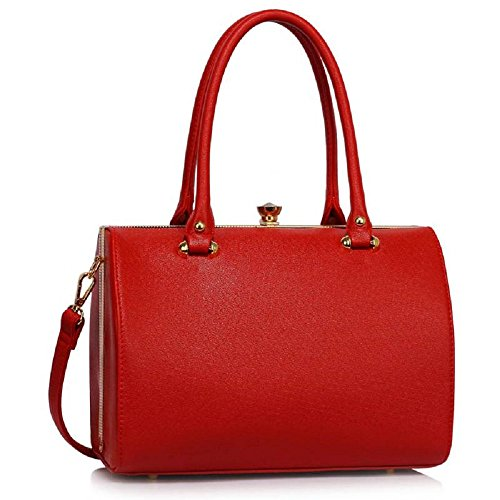 Ladies Handbags Womens Designer Bags Celebrity Faux Leather Patent Tote Bag - Leather And Patent Leather Tote Bag