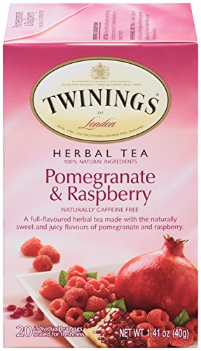 Twinings of London Pomegranate & Raspberry Herbal Tea Bags, 20 Count (Pack of 6) ()