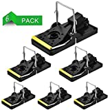 Authenz Mouse Trap, Rats/Mice Trap That Work Humane Power Rodent Killer 100% Mouse Catcher [Quick & Effective & Sanitary] Safe for Families and Pet - 6 Pack