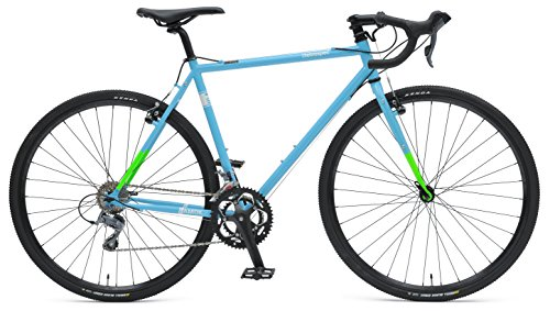 Retrospec Bicycles AMOK-16 CycloCross Sixteen Speed Bike with Chromoly Frame, Hi-Vis Blue/Green, 50cm/Small Xander Bicycle Corporation