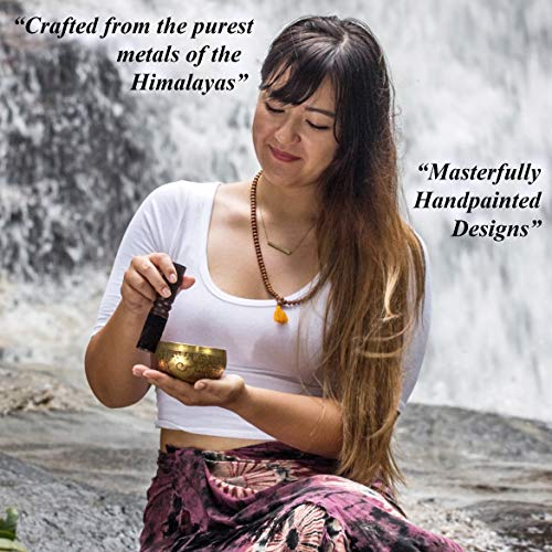 Zen Mind Design Tibetan Singing Bowl Set - with Tingsha Cymbals, Mallet, Cushion, E-Book on Meditation and Additional Gifts Inside - for Yoga and Mindfulness Meditation by Zen Mind Design (Image #6)