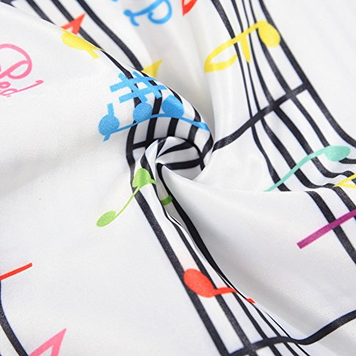 iBaste 2017 Nouvelles années 50 modernes Retro Vintage Notes musicales-Imprimer Rockabilly Robe Robes de soirée Robes de cocktail