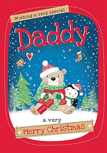 Cute Christmas Card Daddy - 7 x 5 inches - Piccadilly Greetings