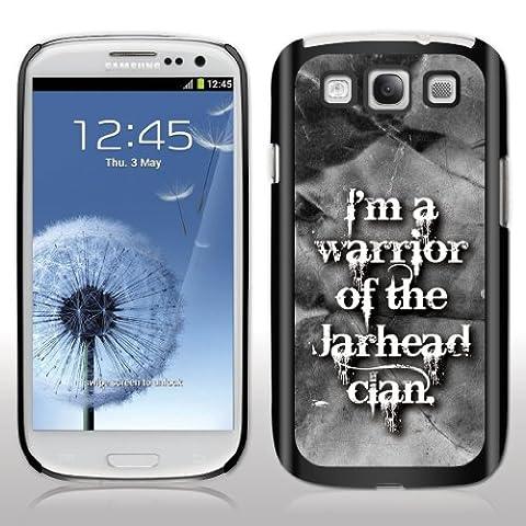 "Samsung Galaxy S3 Case- Avatar – Movie Quote - ""I'm a warrior..."" - Black Protective Hard (Avatar Phone Case Galaxy S3)"